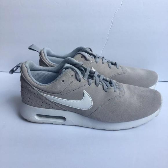 Nike Air Max Tavas Leather Wolf Grey | Nike shoes blue, Nike